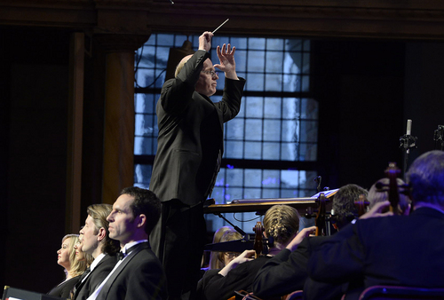 "Scott Sommerdorf   |  The Salt Lake Tribune Conductor Mack Wilberg directs as the Mormon Tabernacle Choir and Orchestra at Temple Square will present Handel's ""Messiah"" in the Tabernacle, Friday, April 18, 2014. This is the event that ""sold out"" of free tickets in 7.5 minutes."