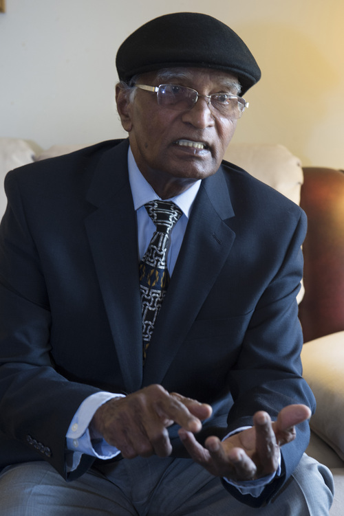Rick Egan  |  The Salt Lake Tribune Saman Lall, a Pakistani Christian, talks about his first Easter in a religiously free country, Wednesday, April 16, 2014. Lall came to Utah less than a year ago.
