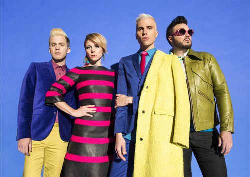 (Andrew Zaeh | Courtesy)  Neon Trees frontman, Tyler Glenn, second from right, recently came out as gay, but said he is sill a devout member of the Mormon Church.