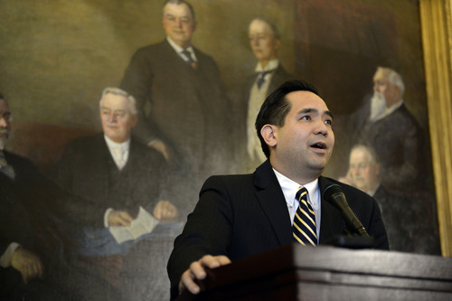 Francisco Kjolseth  |  Tribune file photo Utah Attorney General Sean Reyes has beefed up his office's policy on speaking to the press -- warning attorneys that they could be subject to discipline, including firing, by talking out of school.