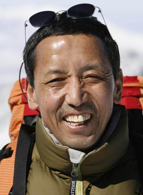 Leah Hogsten | Salt Lake Tribune Apa Sherpa at Snowbird before he led a 2007 expedition to Mount  Everest.