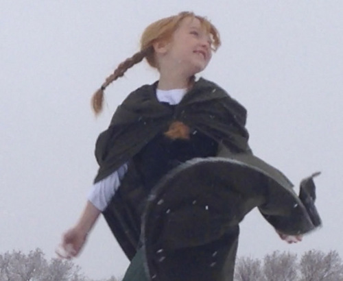 """Courtesy Photo  A scene from filmmaker Robbie Bagley's live-action re-creation of the song """"Do You Want to Build a Snowman?"""" from the Disney movie """"Frozen."""" The video, featuring a Riverton family, is a hit on YouTube."""
