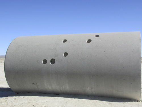 Tom Wharton | The Salt Lake Tribune  This is one of the four cement tubes that make up Nancy Holt's land art creation called the Sun Tunnels found in a remote corner of northwest Utah.
