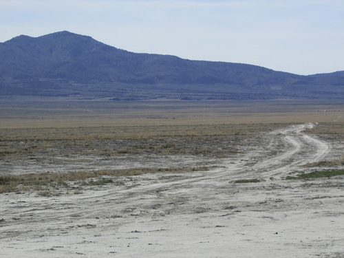 Tom Wharton | The Salt Lake Tribune  Lonely road leads off into the desert from the Sun Tunnels.