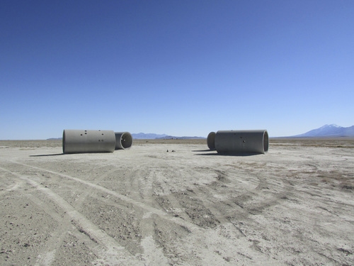 Tom Wharton | The Salt Lake Tribune  Nancy Holt's land art installation Sun Tunnels.