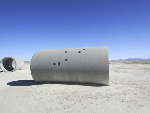 Tom Wharton | The Salt Lake Tribune  Two of the four cement Sun Tunnels, a piece of land art found in a remote corner of northwestern Utah.