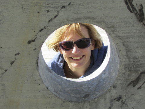 Tom Wharton | The Salt Lake Tribune  Marielle Van Cromvoirt of The Netherlands explores the Sun Tunnels.
