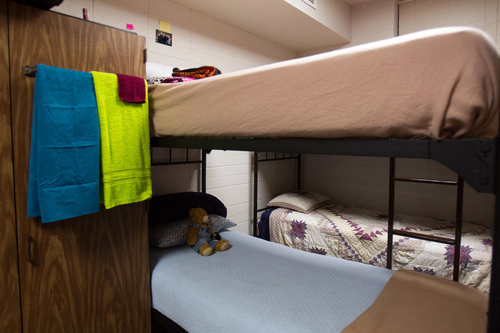 Trent Nelson     The Salt Lake Tribune The cramped quarters in a dorm room at the LDS Missionary Training Center in Provo Tuesday June 18, 2013.