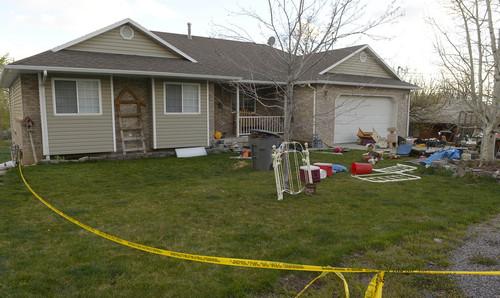 Leah Hogsten  |  The Salt Lake Tribune The Pleasant Grove home Sunday, April 13, 2014, where 7 dead babies were discovered on April 13, 2014.