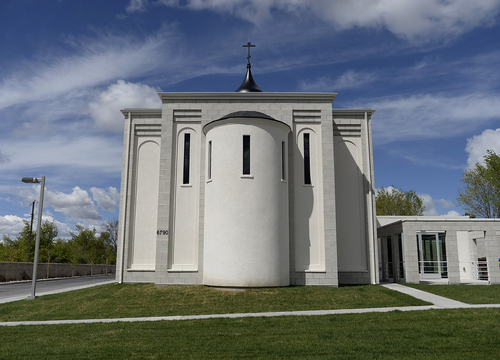 Scott Sommerdorf   |  The Salt Lake Tribune The new St. George Russian Orthodox Church at 1300 West, 6790 South, in West Jordan, seen looking west, Wednesday, April 23, 2014.
