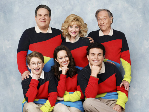 """Courtesy photo (Clockwise from top left) Jeff Garlin, Wendi McLendon-Covey, George Segal, Troy Gentile, Hayley Orrantia and Sean Giambrone star in the new ABC comedy """"The Goldbergs."""""""