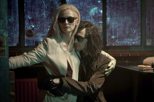 """Tilda Swinton (left) and Tom Hiddleston play vampires in a centuries-long romance, in Jim Jarmusch's """"Only Lovers Left Alive."""" It opens in Salt Lake City on May 9. Coutesy Sony Pictures Classics"""