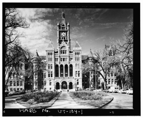 Photos courtesy Library of Congress  Undated view of the Cty County Building in downtown Salt Lake City.