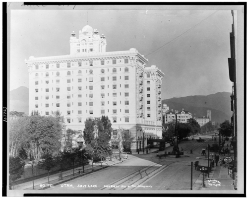 Photos courtesy Library of Congress  A view of Hotel Utah from 1911.
