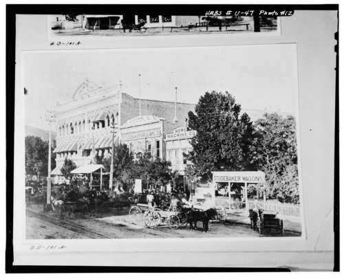 Photos courtesy Library of Congress  ZCMI in downtown Salt Lake City, date unknown but likely late 1800s.