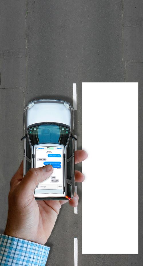 Franciso Kjolseth  |  The Salt Lake Tribune Toughening Utah's ban on texting while driving.  Photo illustration by Francisco Kjolseth