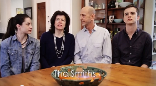 In a YouTube video screen shot of a Utah Unites for Marriage ad, the Smith family talks about its family and why the freedom to marry for same-sex couples in Utah matters to it. (Courtesy)