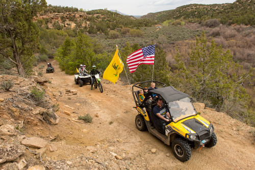 Trent Nelson  |  The Salt Lake Tribune ATVs make their way through Recapture Canyon, which has been closed to motorized use since 2007, after a call-to-action by San Juan County Commissioner Phil Lyman on Saturday, May 10, 2014, north of Blanding.