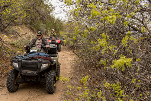 Trent Nelson  |  The Salt Lake Tribune ATV riders make their way through Recapture Canyon, which has been closed to motorized use since 2007. The protest on Saturday, May 10, 2014, north of Blanding, came after a call-to-action by San Juan County Commissioner Phil Lyman.