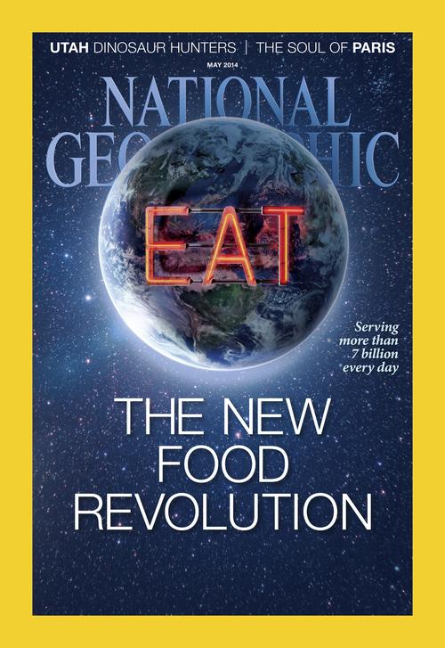Courtesy  |  National Geographic Magazine Cover of the May issue of National Geographic magazine. http://ngm.nationalgeographic.com/2014/05/utah-dinosaurs/richards-photography