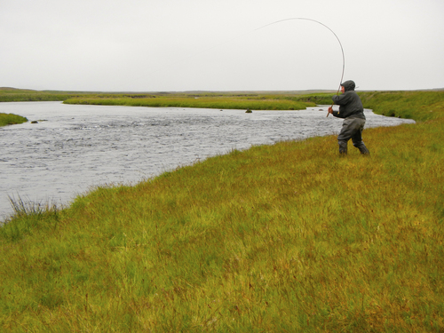 Malinda Chouinard   Courtesy Patagonia Books Yvon Chouinard, founder and owner of Patagonia, uses a tenkara fly rod to land an Atlantic salmon in Iceland.