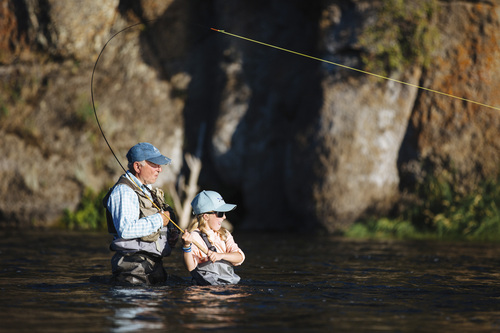 Jeremy Koreski   Courtesy Patagonia Books After a five-minute lesson with Yvon Chouinard, nine-year-old Lola proceeded to land seventeen rainbows in a day and a half on the Fall River in Idaho.