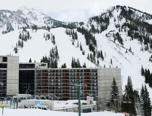 Steve Griffin  |  The Salt Lake Tribune   The Cliff Lodge at Snowbird ski resort in Little Cottonwood Canyon  Salt Lake City, Utah Monday, May 12, 2014.