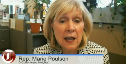 Rep. Marie Poulson, D-Cottonwood Heights, was a guest on Trib Talk on Tuesday May 13, 2014.
