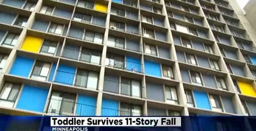(NDN screengrab)  A 15-month-old toddler is being called a miracle baby after surviving an 11-story fall.