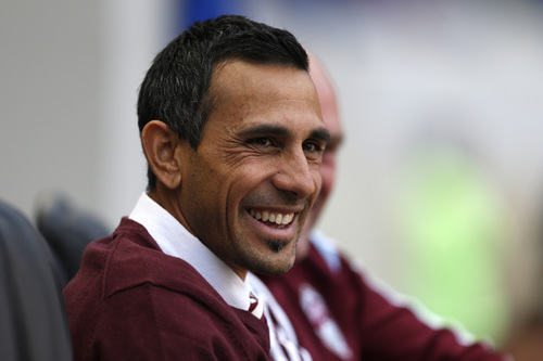Colorado Rapids head coach Pablo Mastroeni looks on before the start of an MLS soccer game against the New York Red Bulls, Saturday, March 15, 2014, in Harrison, N.J. Mastroeni was recently hired as the Rapids' head coach. The teams tied 1-1.(AP Photo/Julio Cortez)