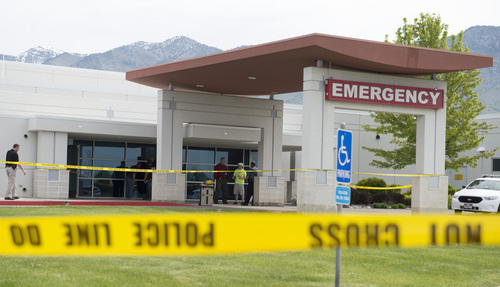 Rick Egan  |  The Salt Lake Tribune Jason Burr was shot at Cache Valley Hospital in North Logan on Friday after entering with a gun.