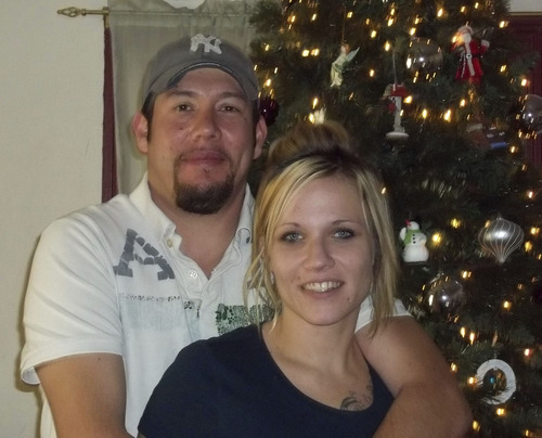 Angela Hill with her fiance Ben Hill this past Christmas.   Photo courtesy of Mike and Denise Atwood.