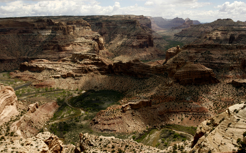 Leah Hogsten  | Tribune File Photo The Wedge Overlook in  the San Rafael Swell on May 15, 2010. Gov. Gary Herbert doesn't think President Barack Obama will declare more monuments in Utah.