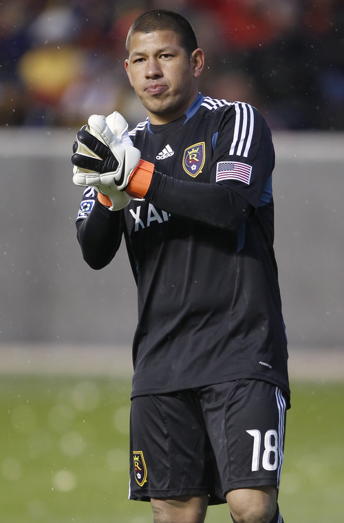 Real Salt Lake goalkeeper Nick Rimando. (Photo by George Frey/Getty Images)