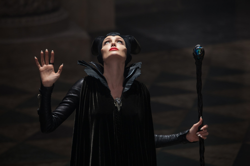 """This photo released by Disney shows Angelina Jolie in a scene from """"Maleficent."""" (AP Photo/Disney, Frank Connor)"""