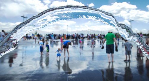 Steve Griffin  |  The Salt Lake Tribune   Children play in the water area during the grand opening of the Sierra Newbold Playground in West Jordan, Utah Friday, May 30, 2014. The playground is named after the 6-year-old girl who was abducted from her home on June 26, 2012, and killed. The new playground is part of the Ron Wood Park which is named after a West Jordan police officer who was shot and killed Nov. 18, 2002, by a 17-year-old suspect wanted in connection with a string of burglaries. When all phases are complete, the park will total about 64 acres.