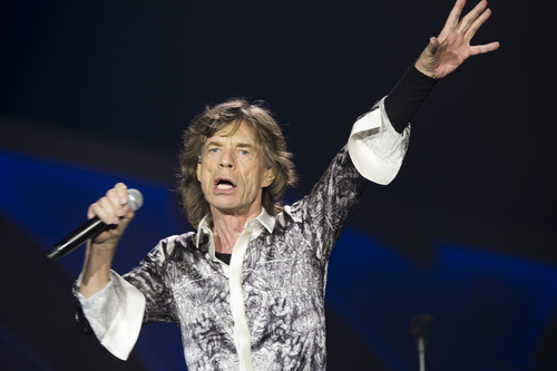 Rolling Stones singer front man Mick Jagger, performs during a concert in the Telenor Arena at Fornebu in Baerum just south of Oslo, Norway, Monday May 26, 2014. The Stones rock combo are on a world wide tour billed as The Rolling Stones On Fire.  (AP Photo / Terje Bendiksby, NTB Scanpix) NORWAY OUT
