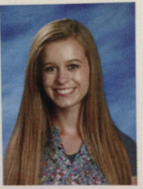 | Courtesy Olivia McGinniss  Olivia McGinniss' photo appeared with sleeves in the 2013 Wasatch High School yearbook.