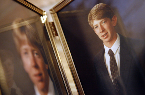 Brian Watkins, pictured alongside his brother was murdered in a NYC subway 15 years ago, a death that sparked a major crackdown on crime in the Big Apple.  Photo by Francisco Kjolseth/ The Salt Lake Tribune 12/23/2005