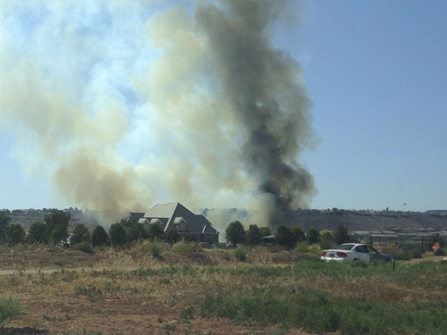 Courtesy  |  Brandon Price A wildfire burns east of St. George on Sunday, June 1, 2014.