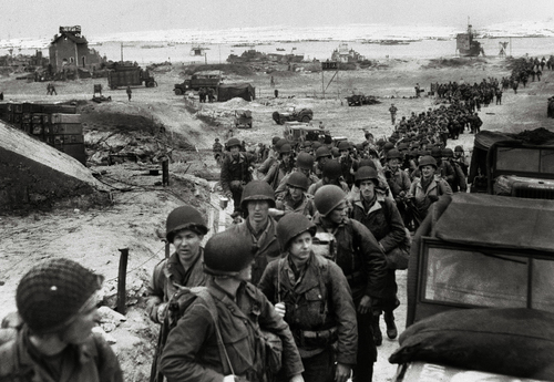 The background of the d day in june 6 1944