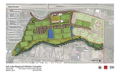 |  Courtesy image Site plan for the new Salt Lake Athletic Complex.