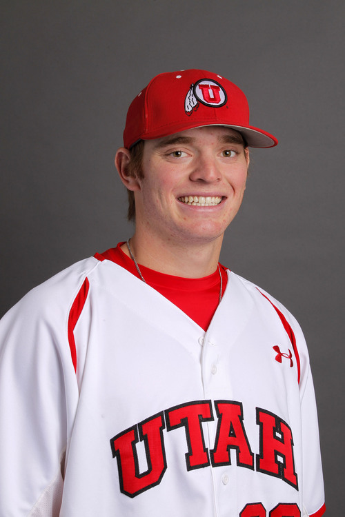 Courtesy  |  University of Utah Athletics Nolan Stouder, Utah Baseball November 12, 2013 in Salt Lake City, Utah.