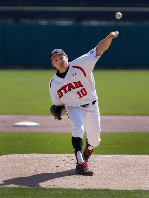 Courtesy  |  University of Utah Athletics Utah Baseball pitcher Tanner Banks vs. Oregon State March 16, 2014 in Salt lake City, UT.