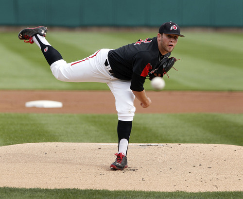 Courtesy  |  University of Utah Athletics Utah pitcher Mitch Watrous throws during the first inning against UCLA April 18, 2014 in Salt Lake City, UT.