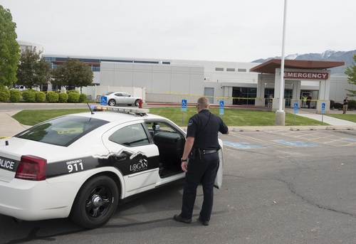 Rick Egan  |  The Salt Lake Tribune  A man with a gun was shot after entering the Cache Valley Hospital in North Logan around 8:15 a.m. on May 16, 2014.