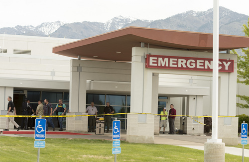 Rick Egan     The Salt Lake Tribune  A man with a gun was shot after entering the Cache Valley Hospital in North Logan around 8:15 a.m. on May 16, 2014.