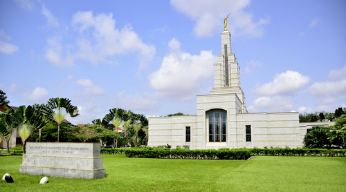 Mike Stack  |  special to The Salt Lake Tribune  The LDS Temple in Accra, Ghana.  03/12/2014