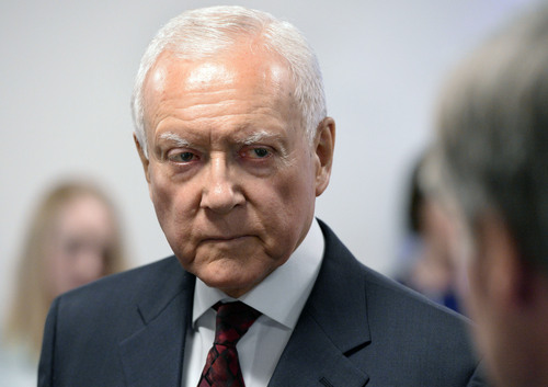 Al Hartmann  |  Tribune file photo Sen. Orrin Hatch, R-Utah, appears to be leaving the door open for running for an eighth term, when he will be 84 years old.