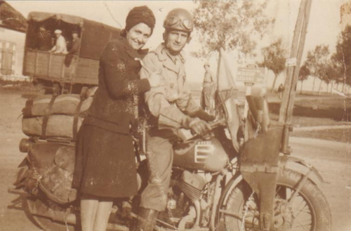 """The """"NEVOT FAMILY PICTURES"""" file is of Yvette Nevot (left) and her brother Daniel Nevot (right) shortly after the liberation of Paris from the Nazis. Courtesy Patricia Nevot Johnson"""
